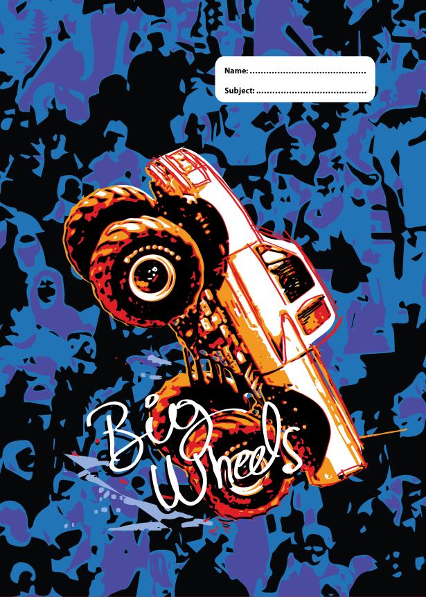 A4 Book Cover - Big Wheels II