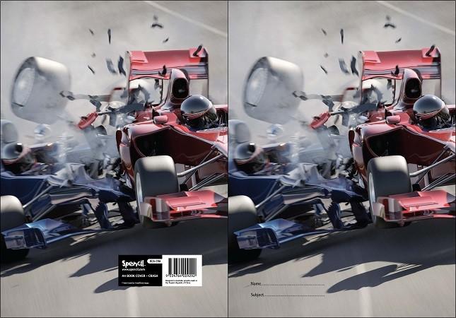 Exercise Book Cover - Crash
