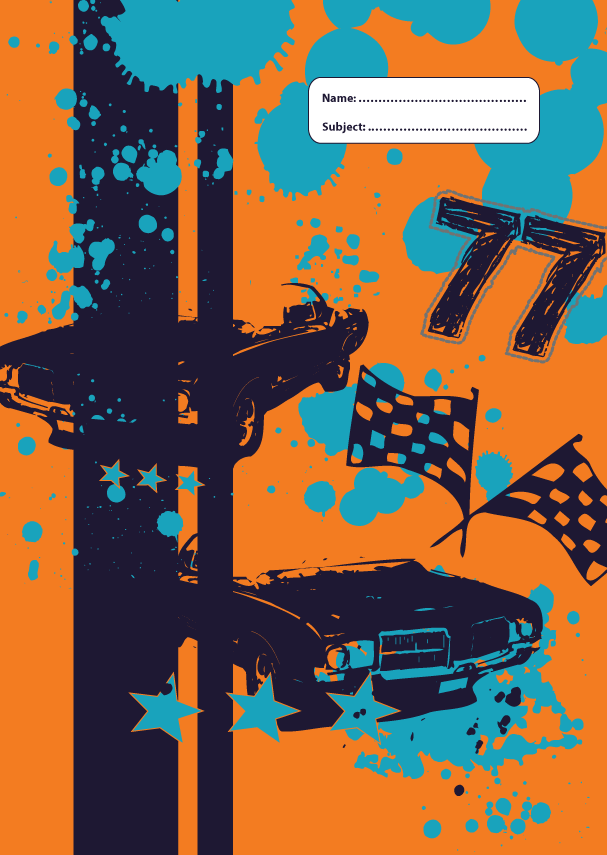 A4 Book Cover - Drag Racer III