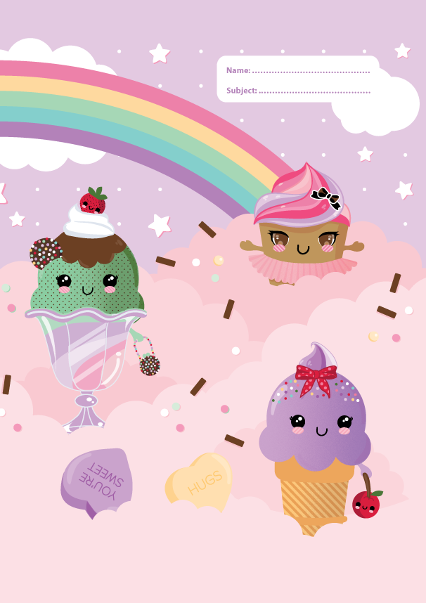 A4 Book Cover - Everyday is a Sundae I
