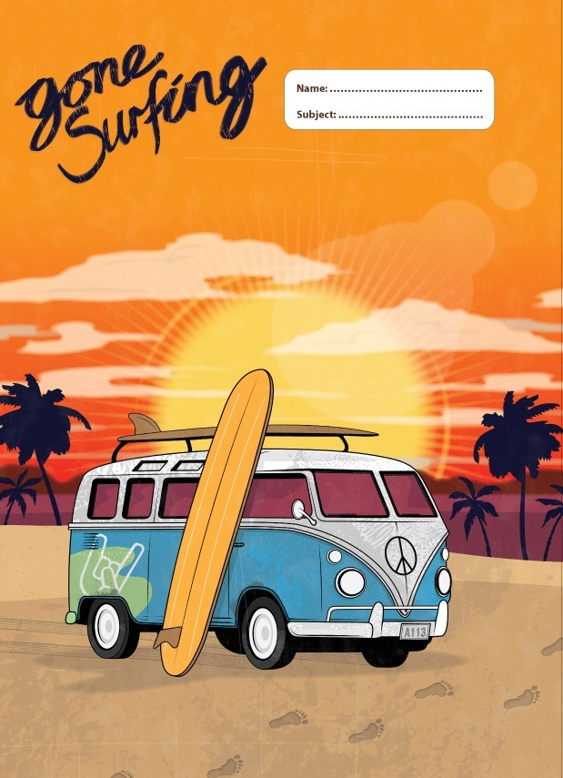 A4 Book Cover - Gone Surfing I