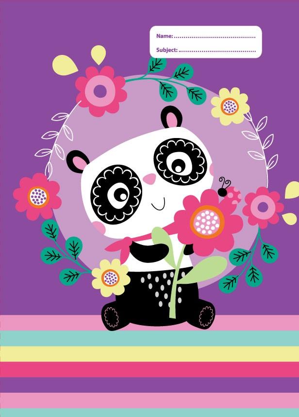 Exercise Book Cover - Panda Love