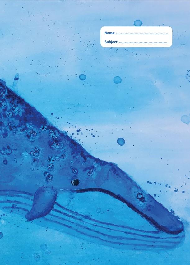 A4 Book Cover - Blue Whale