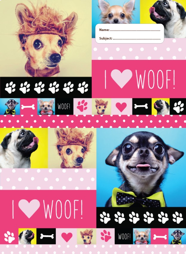 A4 Book Cover - Woof!