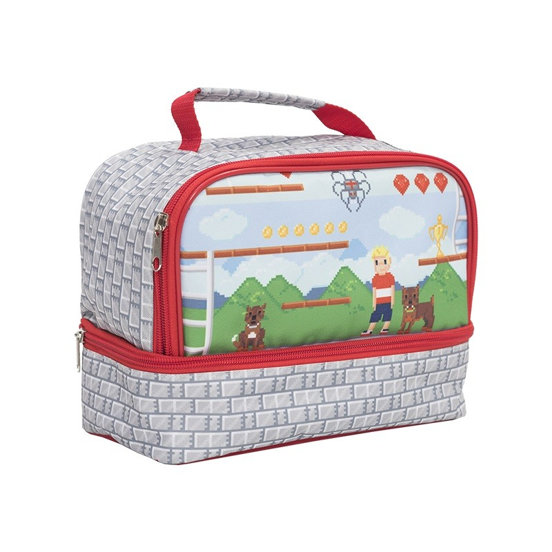 Twin Top Lunch Box - Pixel