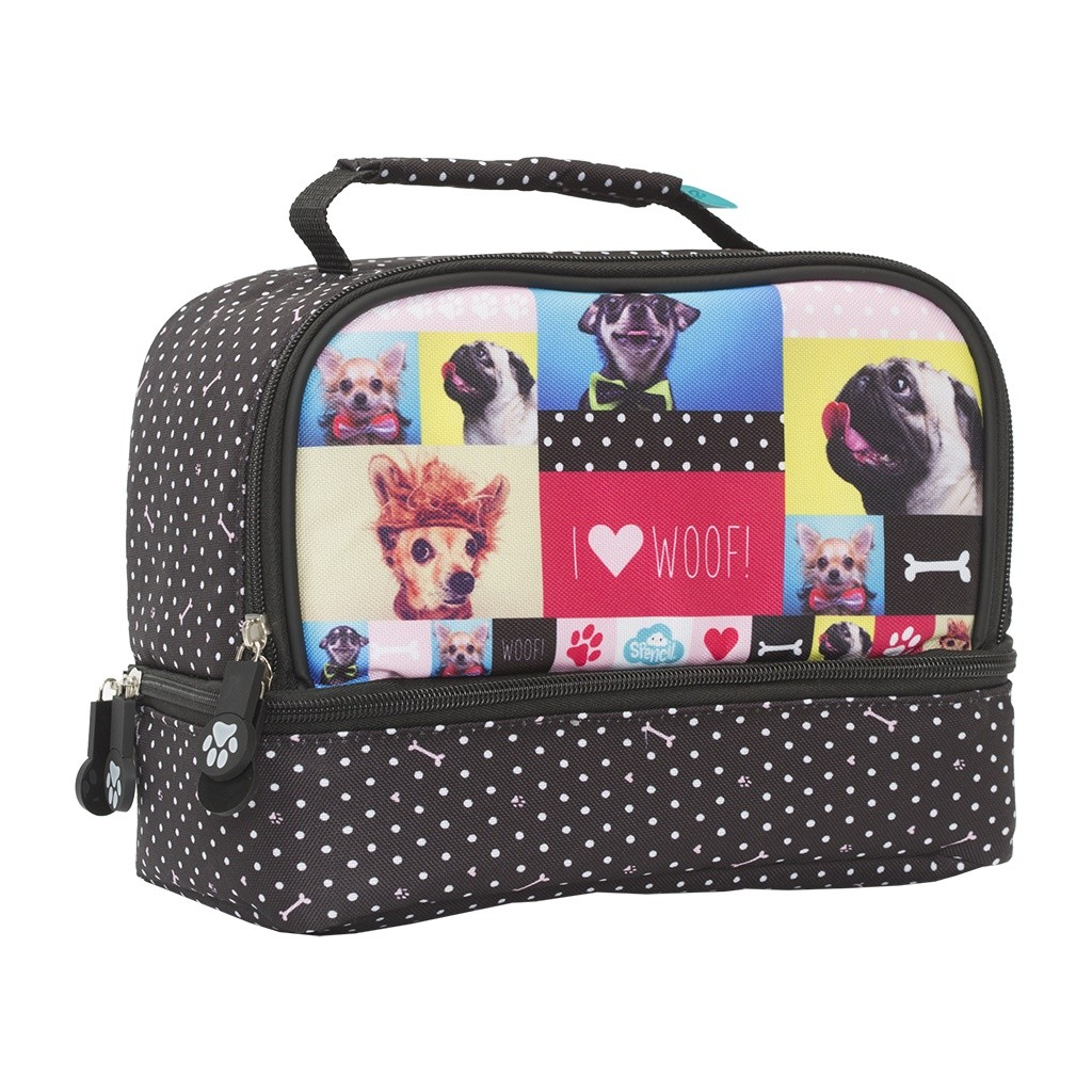 Twin Top Lunch Box - Woof!