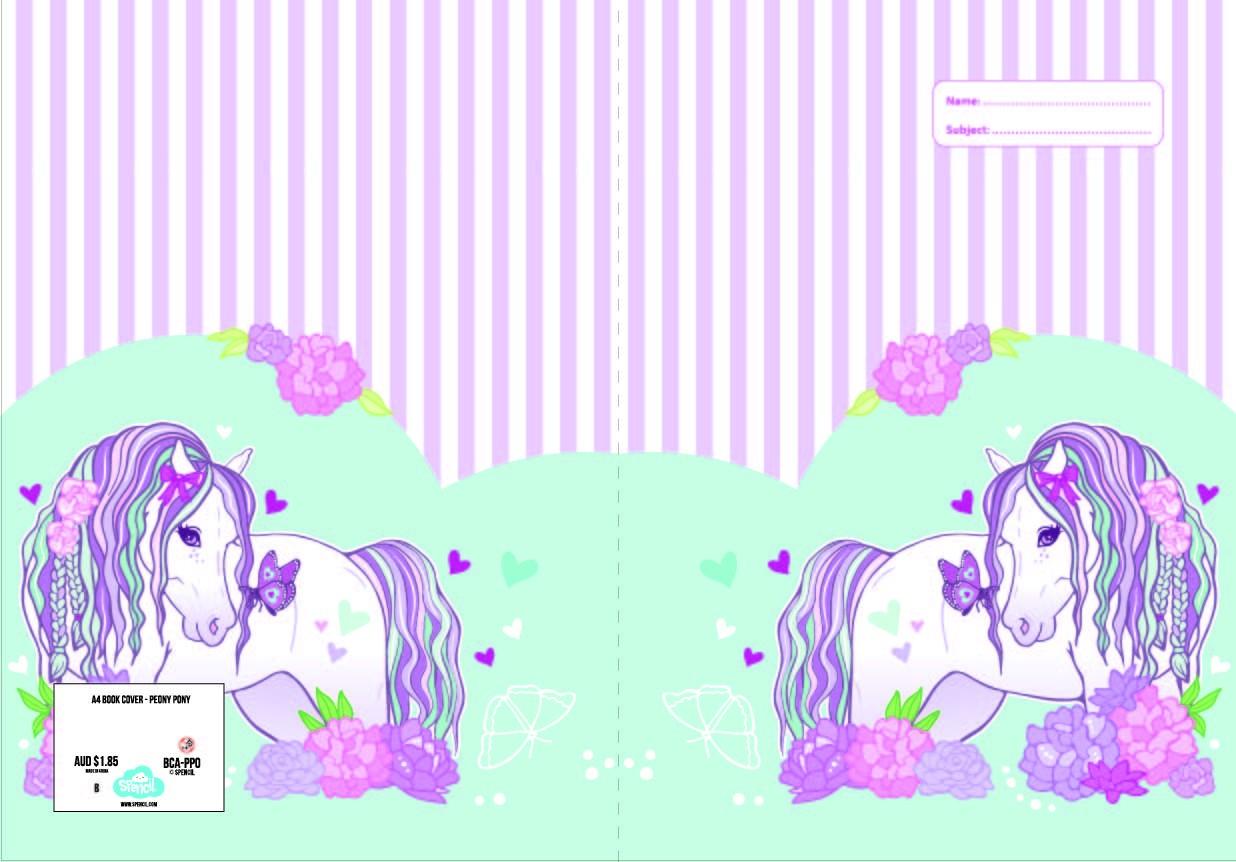 A4 Book Cover - Peony Pony