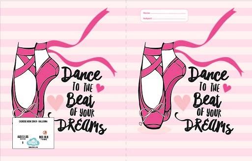 Exercise Book Cover - Ballerina