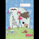 A4 Book Cover - Paris Girl