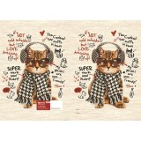 Exercise Book Cover - Cat in Ear Muffs
