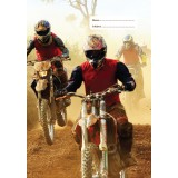 A4 Book Cover - Dirt Bike I