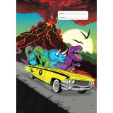 A4 Book Cover - Jurassic Joy Ride II