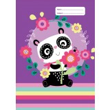 Exercise Book Cover - Panda Love
