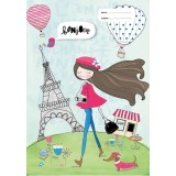 Scrapbook Cover - Paris Girl