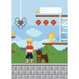 Exercise Book Cover - Pixel