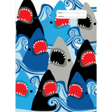 A4 Book Cover - Sharks