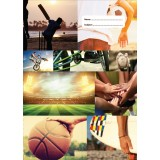A4 Book Cover - Sports Collage I