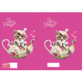 Exercise Book Cover - Teapot Cat