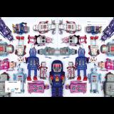 A4 Book Cover - Tin Robots