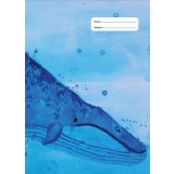 A4 Book Cover - Blue Whale