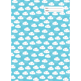 A4 Book Cover - Blue Cloud