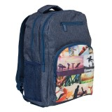 Triple Backpack - Sports Collage
