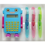Robot Calculator Set - Light Blue