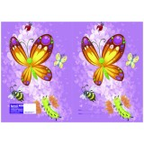 Exercise Book Cover - Butterflies