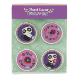 Shaped Erasers - Panda Love