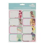 Name and Subject Label Stickers - Friends Forever