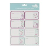 Name and Subject Label Stickers - Peony Pony