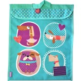 The Elusive Homework Folder  Making Them Work and Getting Them     Eeny Meeny Tote bags printed with a variety colorful crosses and also an eco friendly  school bag  Totes are great for student s homework