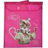 Homework Bag - Teapot Cat