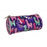 Barrel Pencil Case - Llama Love