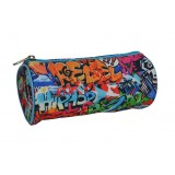 Barrel Pencil Case - Rebel Graffiti