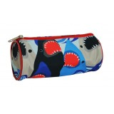 Barrel Pencil Case - Sharks