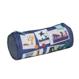 Barrel Pencil Case - Sports Collage