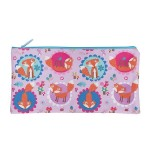 Rectangle Pencil Case - Funny Foxes
