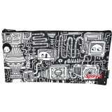 Rectangle Fabric Pencil Case - In and Out