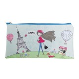 Rectangle Pencil Case - Paris Girl