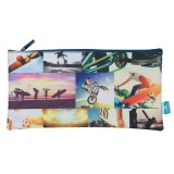 Rectangle Pencil Case - Sports Collage