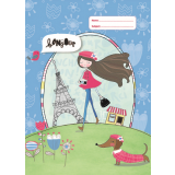 A4 Book Cover - Paris Girl