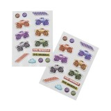2pk Puffy Stickers - Big Wheels