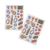 2pk Puffy Stickers - Sports Collage
